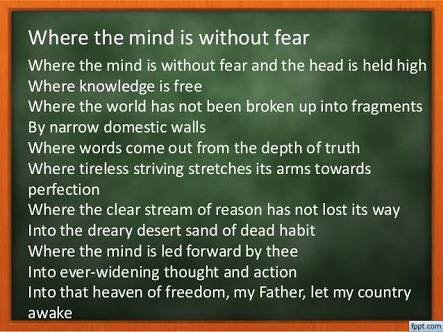 WHERE MIND IS WITHOUT FEAR