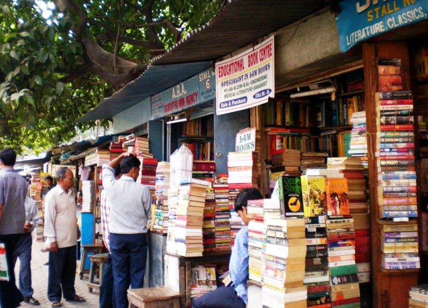 mile-long book stalls on college st in calcutta